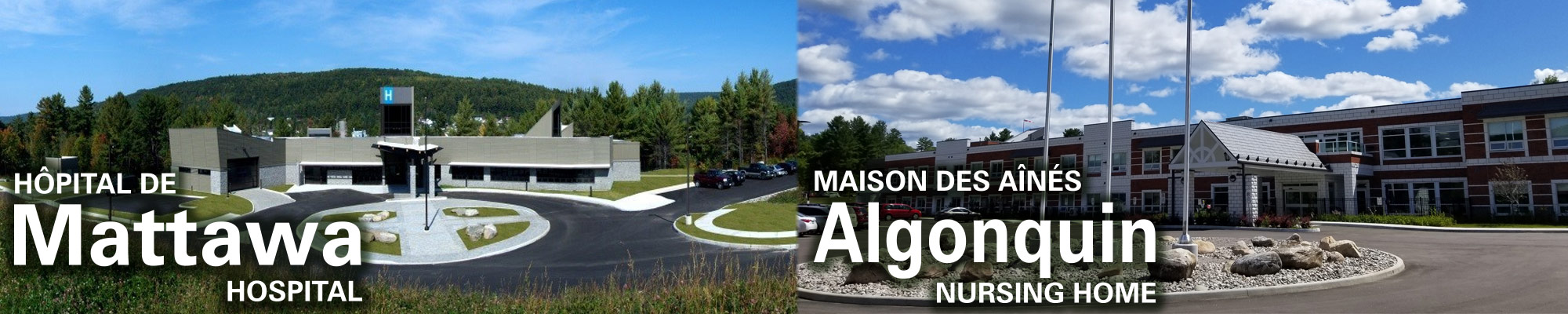 Masthead for Mattawa Hospital and Algonquin Nursing Home